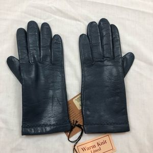 Fownes | Vintage Navy Leather Gloves